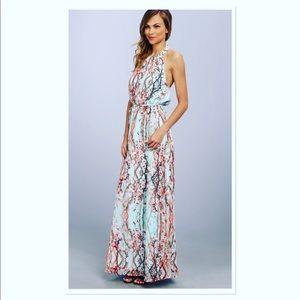 Jessica Simpson halter maxi dress cherry blossom